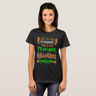 Camiseta Debido a la economía éste es traje Halloween del