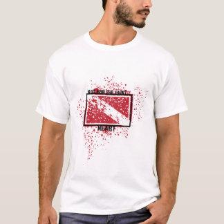 Camiseta débil-de-corazón