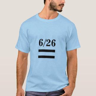 Camiseta decisiones de 6/26 igualdad de la boda
