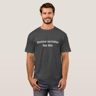 Camiseta Declare las variables, no guerra