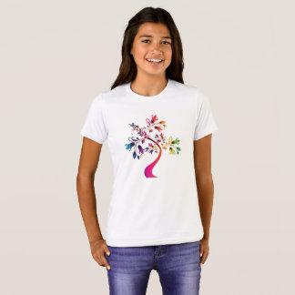 Camiseta decorativa del árbol ornamental floral