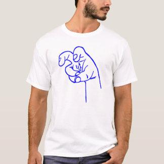 Camiseta Dedo azul del colmillo