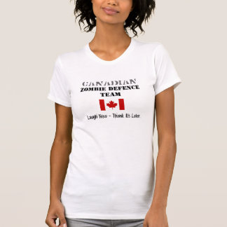 Camiseta Defensa canadiense del zombi