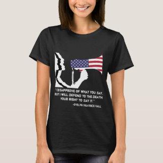 Camiseta Defienda el T de las mujeres del discurso libre