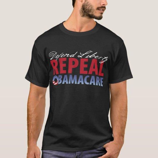 Camiseta Defienda la atención sanitaria de la derogación de
