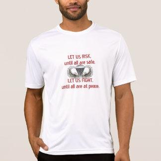 Camiseta DEJE EL RIESGO de los E.E.U.U., hasta todos son