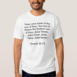 Camiseta del 36:15 de la génesis