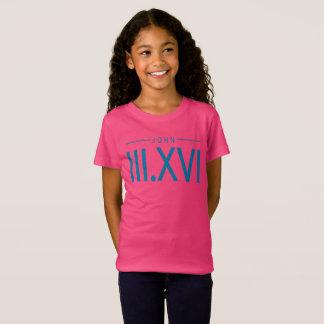 Camiseta del 3:16 de Juan del chica