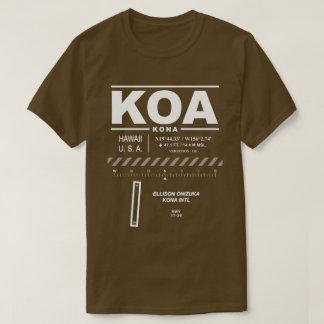 Camiseta del aeropuerto internacional KOA de Kona