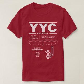 Camiseta del aeropuerto internacional YYC de