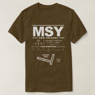 Camiseta del aeropuerto MSY de Louis Armstrong New