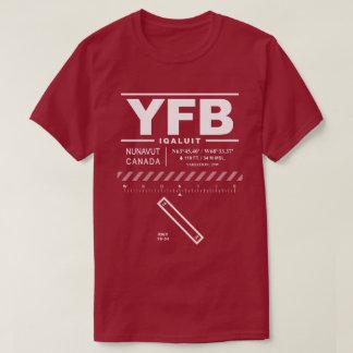 Camiseta del aeropuerto YFB de Iqaluit