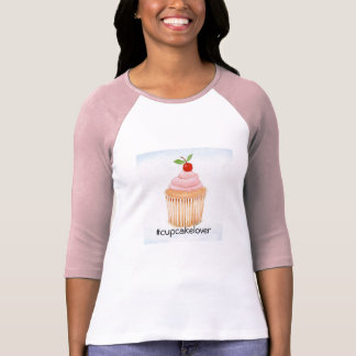 Camiseta del amante de la torta de la taza