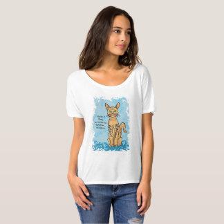 Camiseta del amante del gato con el subtítulo