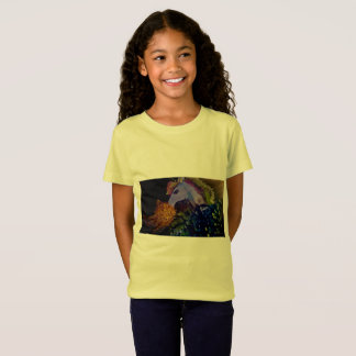 Camiseta del amarillo del unicornio