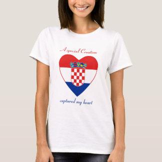 Camiseta del amor de la bandera de Croacia
