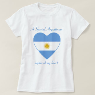 Camiseta del amor de la bandera de la Argentina