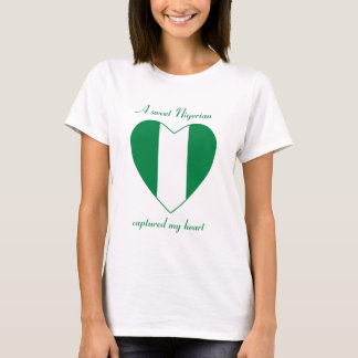 Camiseta del amor de la bandera de Nigeria
