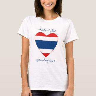 Camiseta del amor de la bandera de Tailandia