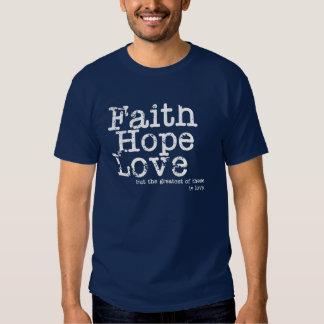 Camiseta del amor de la esperanza de la fe del