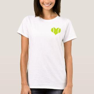 Camiseta del amor de la pelota de tenis