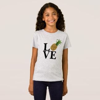 Camiseta del amor de la piña del chica