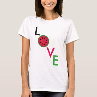 Camiseta del amor de la sandía