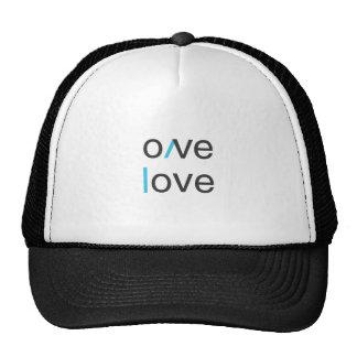 Camiseta del amor del amor del amor del amor gorras de camionero