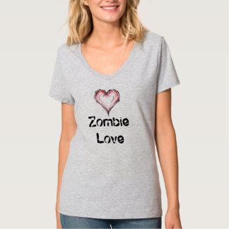 Camiseta del amor del zombi de las mujeres