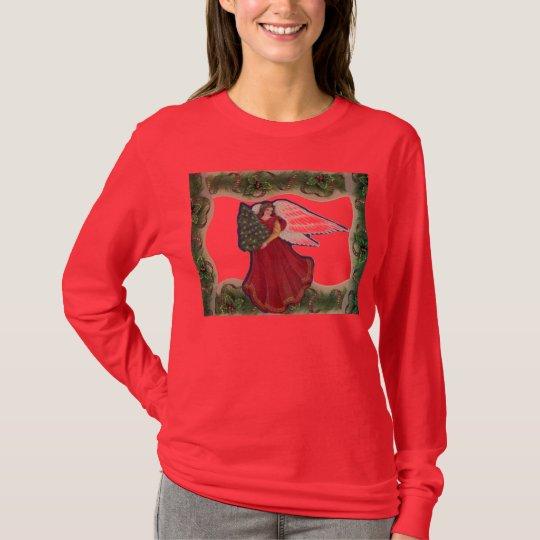 Camiseta del ángel del navidad