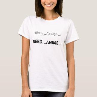 Camiseta del animado de la necesidad