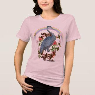 Camiseta del animal del alcohol de la garza