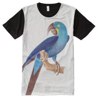 Camiseta del animal del pájaro del loro del Macaw