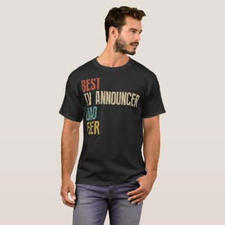 Camiseta del anunciador de TV
