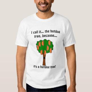 Camiseta del árbol del perrito caliente