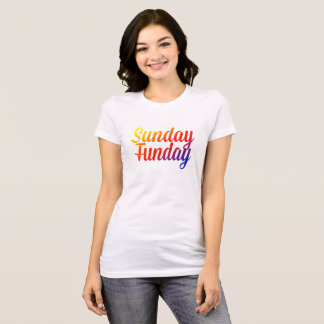 Camiseta del arco iris de domingo Funday