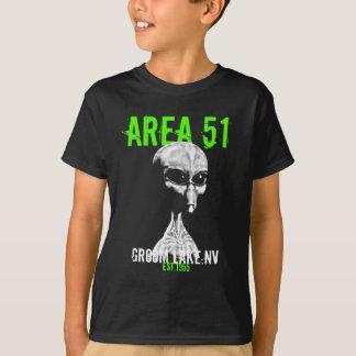Camiseta del área 51 de los niños