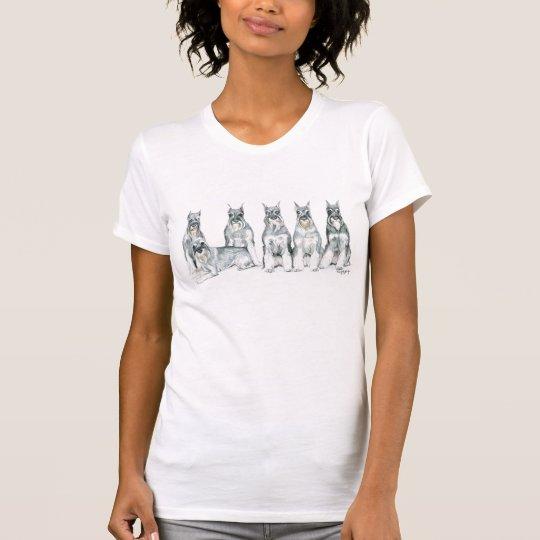 Camiseta del arte del perro del Schnauzer estándar