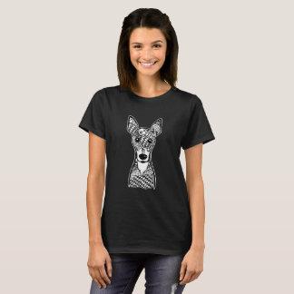 Camiseta del arte gráfico de la cara del Pinscher