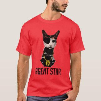 Camiseta del arte pop de la estrella del agente