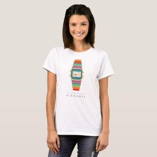 Camiseta del arte pop del reloj de los momentos el