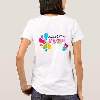 Camiseta del artista de maquillaje