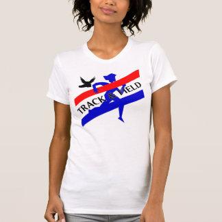Camiseta del atletismo de las señoras