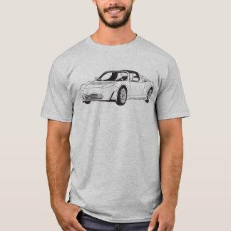 Camiseta del automóvil descubierto de Tesla
