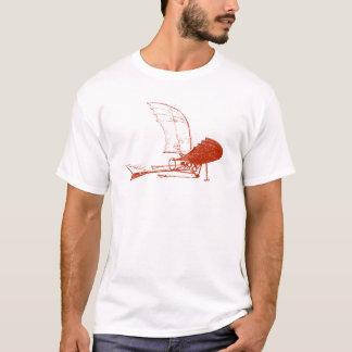 Camiseta del aviador del aeroplano de Leonardo da