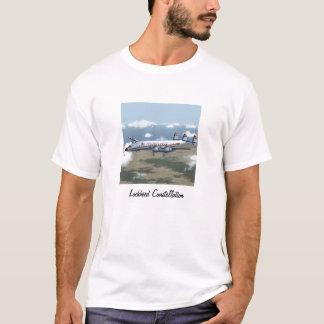 Camiseta del avión de pasajeros de la constelación