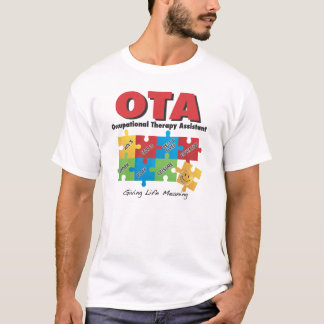 Camiseta del ayudante de la terapia profesional