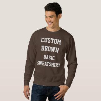 CAMISETA del BASIC de BROWN de los hombres