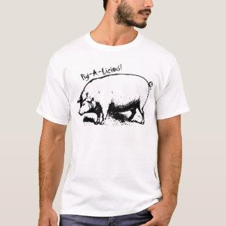 Camiseta del Bbq del Cerdo-UNo-Licious