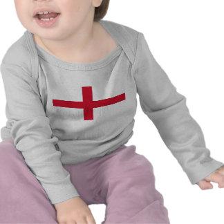Camiseta del bebé con la bandera de Inglaterra
